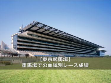【東京競馬場】重馬場での血統別レース成績