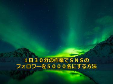 1日30分の作業でSNSのフォロワーを5000名にする方法